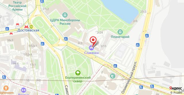 Отель Славянка на карте