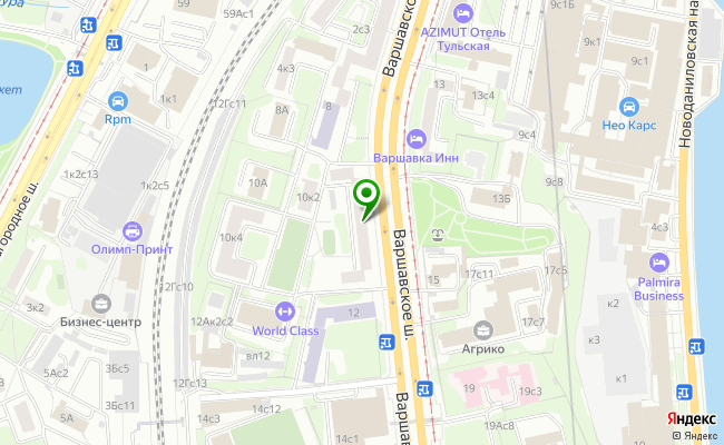 Сбербанк Москва шоссе Варшавское 10, корп.1 карта