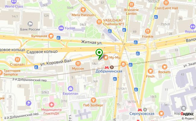 Сбербанк Москва ул. Коровий вал 1А, стр.1 карта