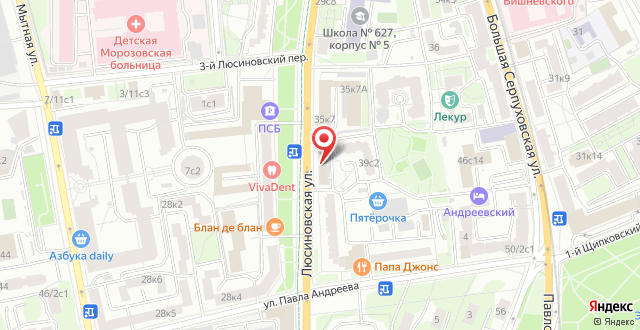 Гостиница Fortuna Inn Dobryninskaya на карте
