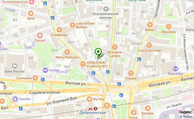 Сбербанк Москва ул. Большая Полянка 61, стр.2 карта