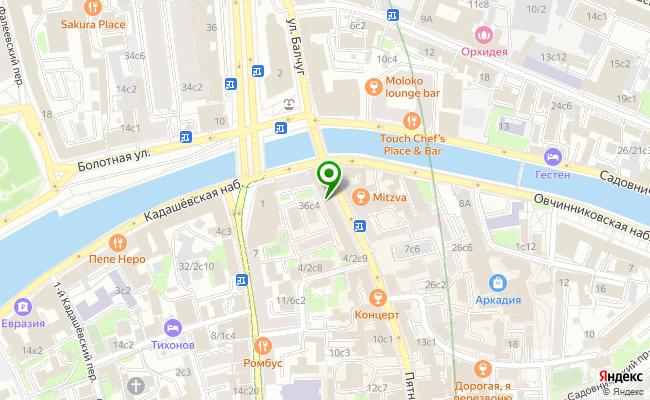 Сбербанк Москва ул. Пятницкая 2/38, стр.1 карта