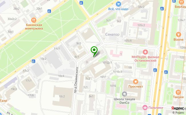 Сбербанк Москва проезд Ольминского 3 карта