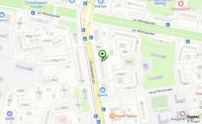 Сбербанк Москва ул. Полярная 16, корп.1 карта