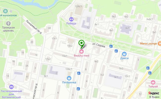 Сбербанк Москва ул. Седова 13, корп.1 карта