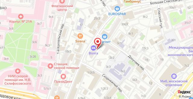 Апарт-отель Волга на карте