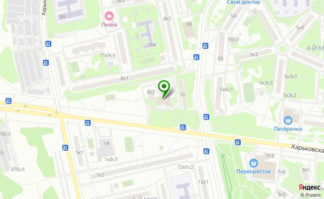 Сбербанк Москва ул. Харьковская 8, корп.2, стр.2 карта