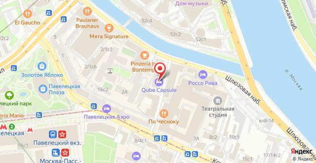 Капсульный отель Qube на карте