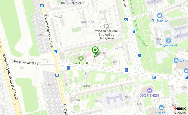 Сбербанк Москва ул. Булатниковская 6А карта