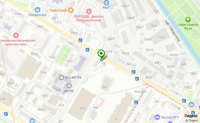 Сбербанк Москва ул. Сельскохозяйственная 9 карта