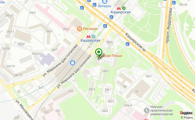 Сбербанк Москва шоссе Каширское 26, корп.2 карта