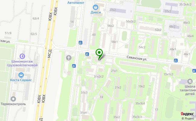 Сбербанк Москва ул. Севанская 23 карта