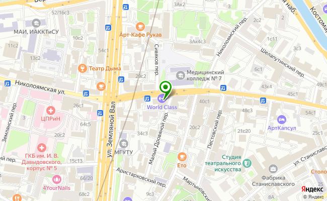 Сбербанк Москва ул. Николоямская 36, стр.1 карта