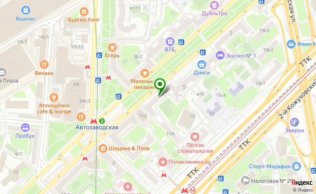 Сбербанк Москва ул. Автозаводская 7 карта