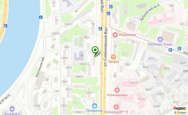 Сбербанк Москва ул. Симоновский вал 18 карта