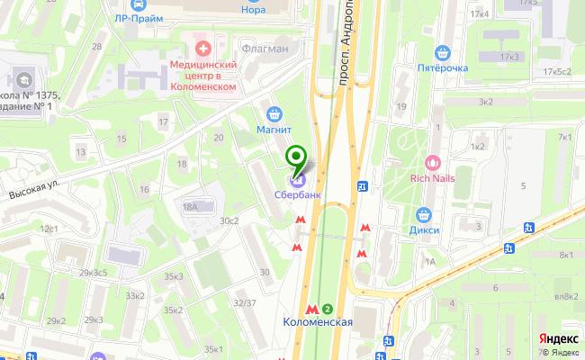 Сбербанк Москва проспект Андропова 28, корп.2 карта