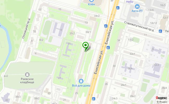 Сбербанк Москва ул. Енисейская 29 карта