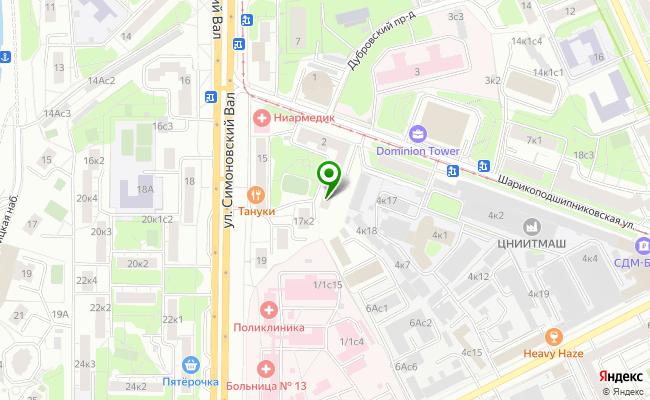 Сбербанк Москва ул. Шарикоподшипниковская 2 карта