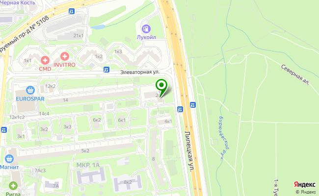 Сбербанк Москва ул. Липецкая 2А карта