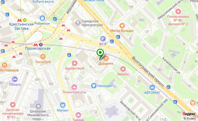 Сбербанк Москва проспект Волгоградский 4А карта