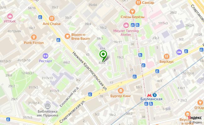 Сбербанк Москва ул. Нижняя Красносельская 43, стр.1 карта
