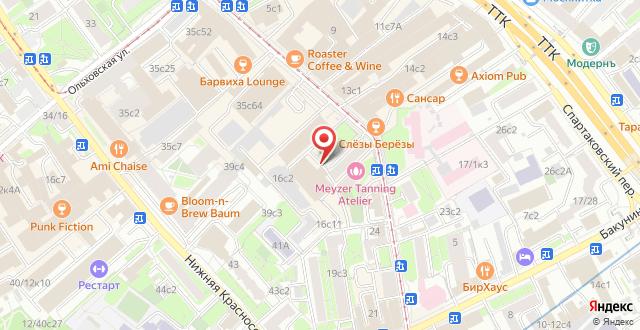 Хостел ARTIST на Бауманской на карте