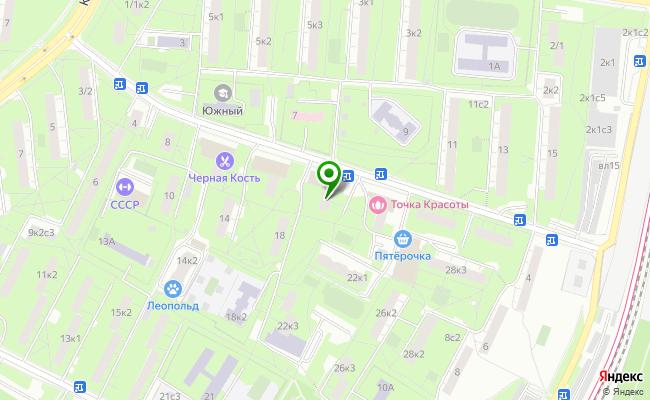 Сбербанк Москва ул. Медиков 20 карта