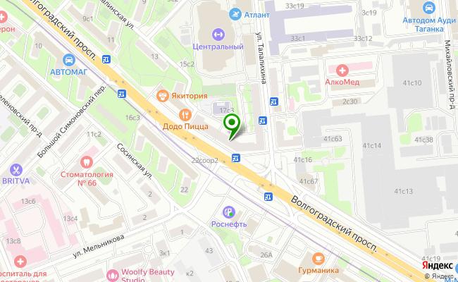 Сбербанк Москва проспект Волгоградский 17 карта