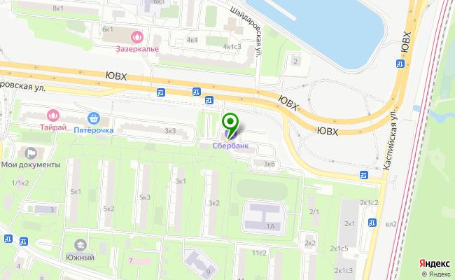 Сбербанк Москва ул. Кантемировская 3, корп.5, стр.2 карта