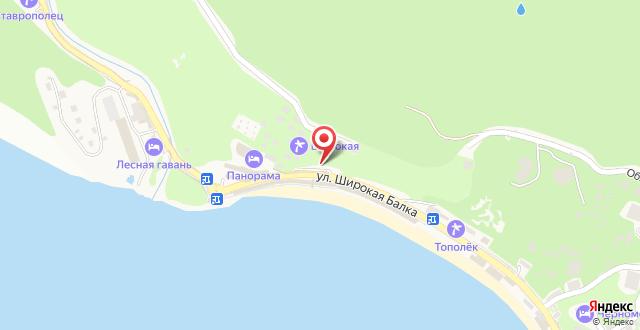 Гостиница Панорама на карте