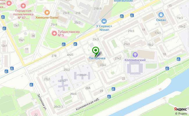 Сбербанк Москва ул. Коломенская 23, корп.2 карта