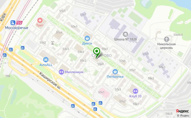 Сбербанк Москва шоссе Каширское 55, корп.4 карта