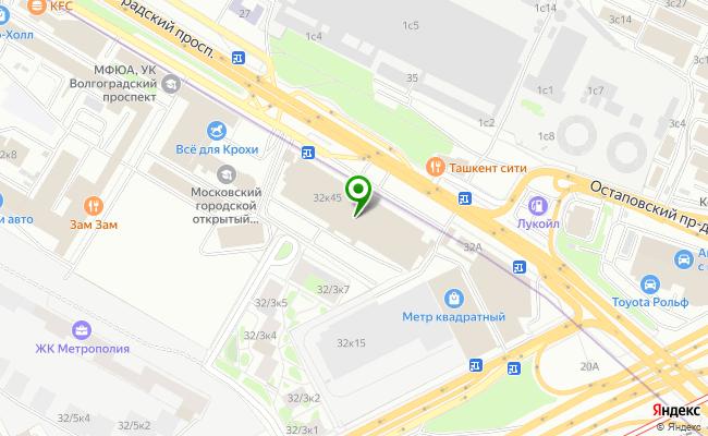 Сбербанк Москва проспект Волгоградский 32, корп.45 карта