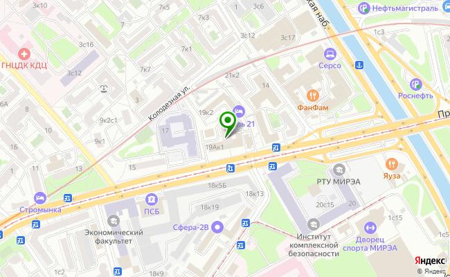 Сбербанк Москва ул. Стромынка 19, корп.1 карта