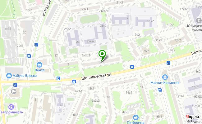 Сбербанк Москва ул. Шипиловская 5, корп.1 карта