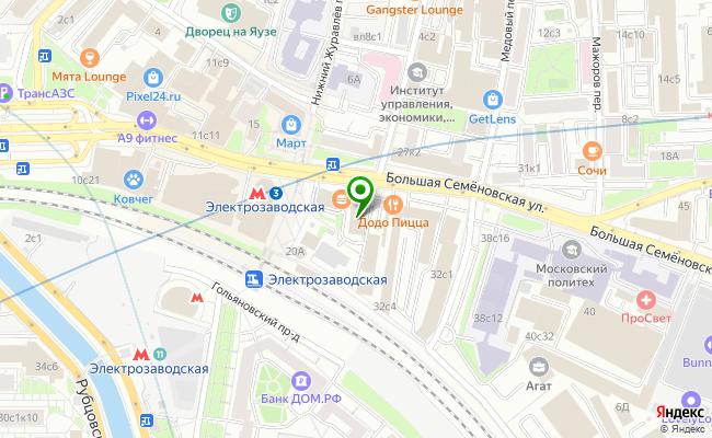 Сбербанк Москва ул. Большая Семеновская 28 карта