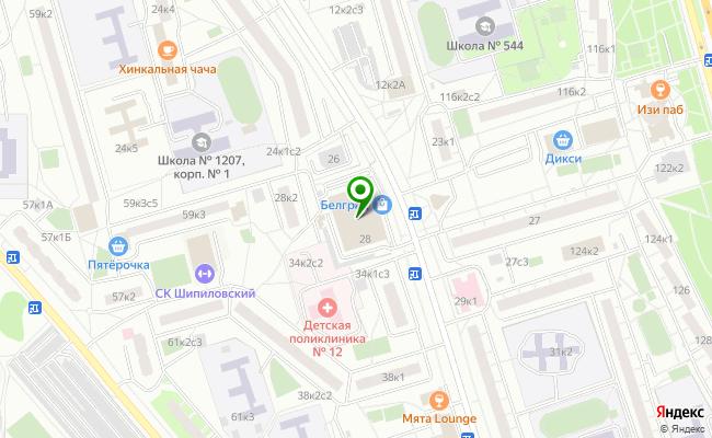 Сбербанк Москва ул. Домодедовская 28 карта