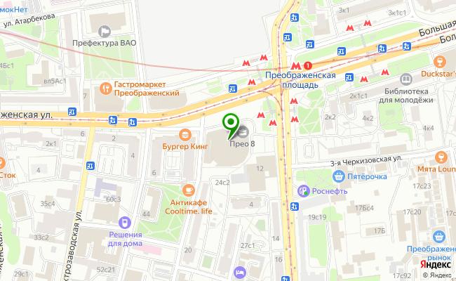 Сбербанк Москва площадь Преображенская 8 карта