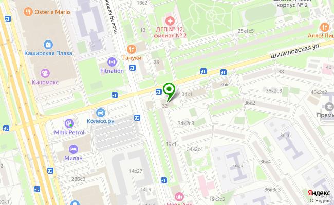 Сбербанк Москва ул. Шипиловская 32 карта