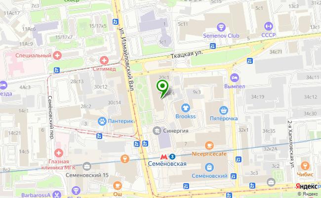 Сбербанк Москва ул. Измайловский вал 20, стр.1 карта