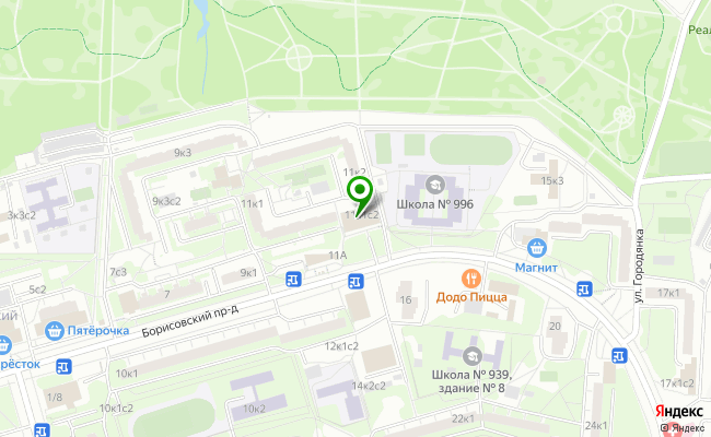 Сбербанк Москва проезд Борисовский 11, корп.1, стр.2 карта