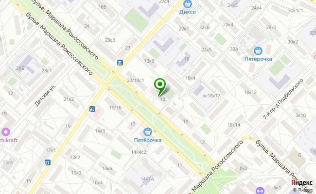 Сбербанк Москва бульвар Маршала Рокоссовского 18 карта