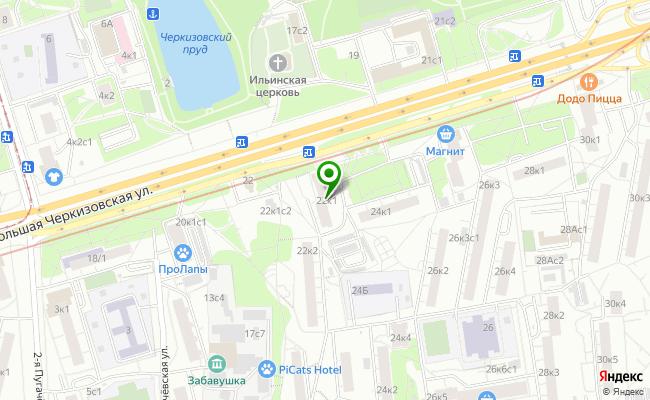 Сбербанк Москва ул. Б.Черкизовская 22, корп.1 карта