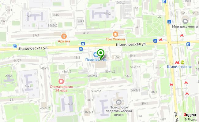 Сбербанк Москва ул. Шипиловская 50, корп.1 карта