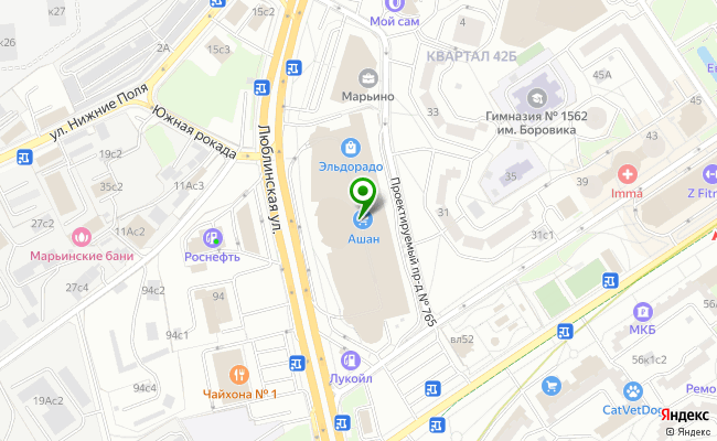 Сбербанк Москва ул. Люблинская 153 карта
