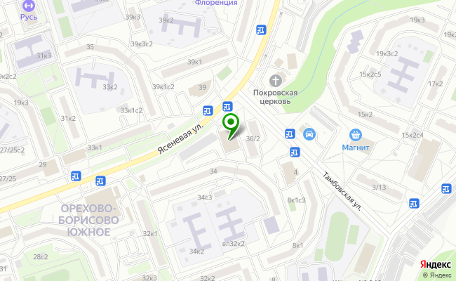 Сбербанк Москва ул. Ясеневая 36/2, стр.3 карта