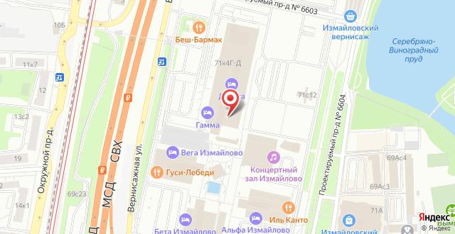 Гостиница Измайлово Гамма Sky Hotel Group на карте