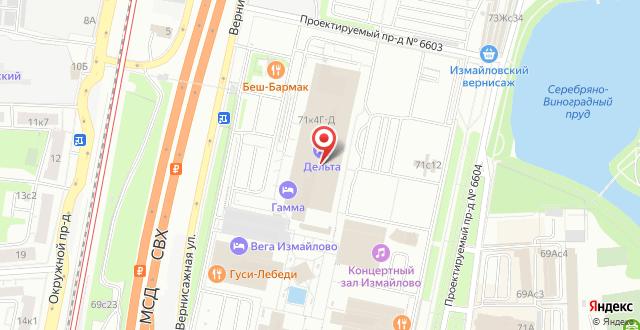 Гостиница Измайлово Дельта Sky Hotel Group на карте