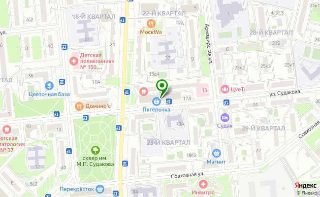 Сбербанк Москва ул. Судакова 17 карта