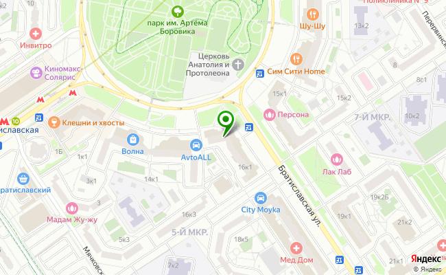 Сбербанк Москва ул. Братиславская 16, корп.1 карта